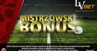 Bonus reload do 200 PLN w LV BET!