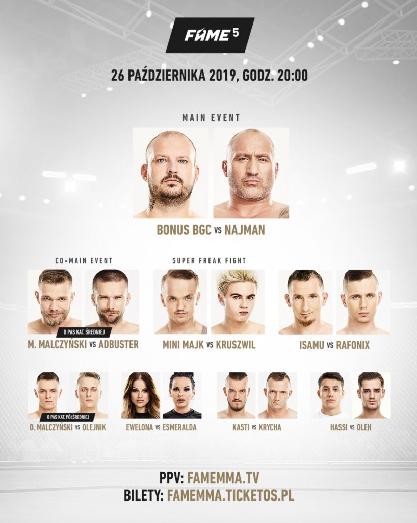 fight card fame mma 5