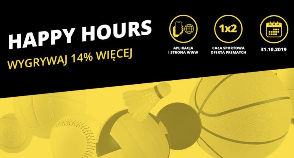 Fortuna Happy Hours na całą ofertę w czwartek!